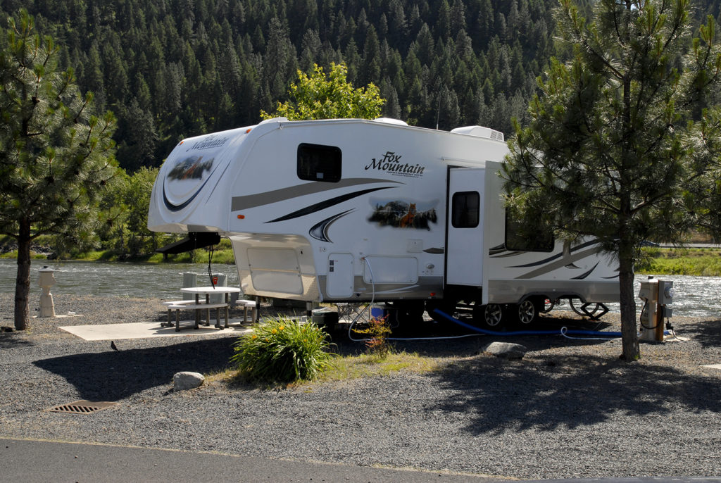 RV Space Rivers Edge BACK IN